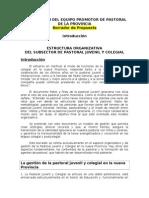 Optimizacion Del Equipo Promotor de Pastoral de La Provincia