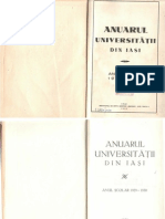 Anuarul Universitatii Din Iasi 1929-1930