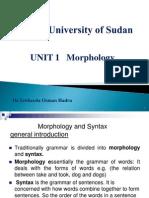 UNIT 1 Morphology