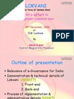 Lokvani IIM Lko. Ppt. for DAINICS Offcrs. 281106 (1)