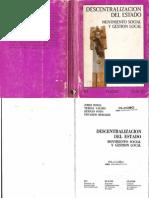 Borja, Jordi , Valdes, Teresa, Pozo, Hernán y Morales, Eduardo - Descentralización del Estado. Movimiento social y gestión local