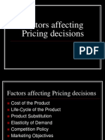 Pricing and Distribution Decisions