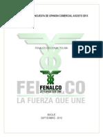 Informe de Opinion Comercial- AGosto 2013