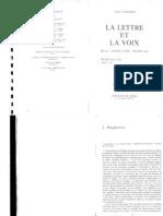 Zumthor- La Lettre Et La Voix