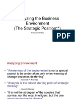 Analyzing the Business Environment