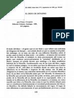 Pablo Oyarzún - El dedo de Diogenes