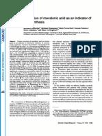 Mevalonic acid & cholesterol