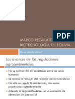 Marco Regulatorio de la Biotecnología en Bolivia