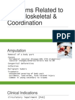 Problems Related to Musculoskeletal & Coordination