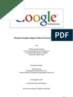Mengenal Google Sebagai Fasilitas Pencarian Informasi