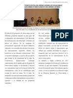 INFORME DEL GRUPO DE ENTRENAMIENTO DE OBSERVADORES DE PESQUERÍAS
