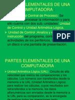Partes Elementales de Una Computadora