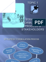 E3 Topic 1 Strategy Formulation Stakeholders