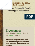 Office Desk Seating - Ergonomics