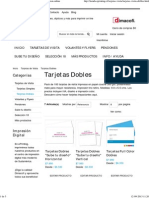 Tarjetas Visita Doble _ Imagen Corporativa _ Impresion Online