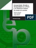 ZARATE, PATRICIA - Inseguridad, Estado y desigualdad en el Perú y en América Latina. Un estado de la cuestión.