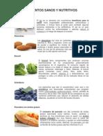 Alimentos Sanos y Nutritivos
