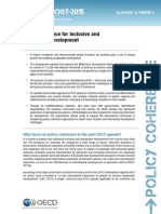 Policy coherence for inclusive and sustainable development