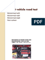 Carry Out Vehicle Road Test- EnGLISH