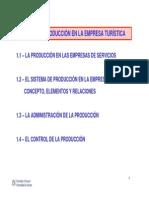 Tema1- Produccion en La Empresa Turistica