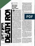 """""""Light on Death Row"""" by Jan Arriens (FJ Dec 1996)"""