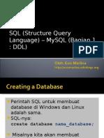 SQL bag 1 DDL