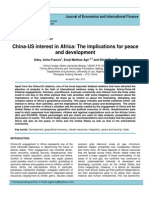 China-US Interest in Africa the Implications for Peace and Development