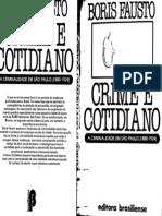 Boris Fausto Crime e Cotidiano