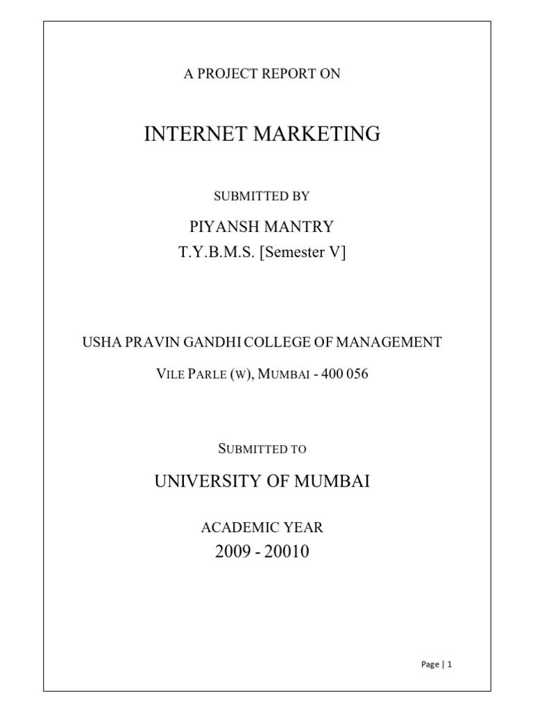Blackbook Project on Internet Marketing | Search Engine Optimization ...