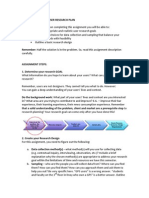 Research Plan - User Research