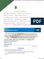 (Current Affairs MCQ) Test Your Skills - 19 August 2013 _ UPSCPORTAL - India's Largest Community for IAS, CSAT, Civil Services Aspirants