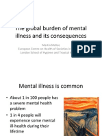 Global Burden on Mental Illness- presentation