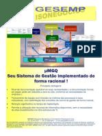 Publicação4 Folder sobre Sistema Minimalista