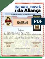 Certificado Sandro Gomes