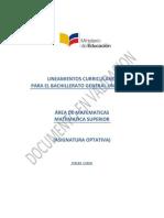 Lineamientos Curriculares Matematica Superior 3BGU