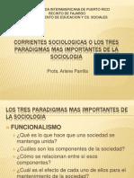 Corrientes Sociologicas o Los Tres Paradigmas Mas Importantes