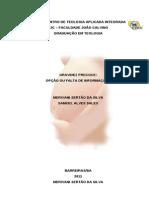 Meirivany e Samuel - MONO COMPLETA Teologia Fjc 2011 (1)