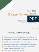 Text 100 Global Blogger Survey Report FINAL