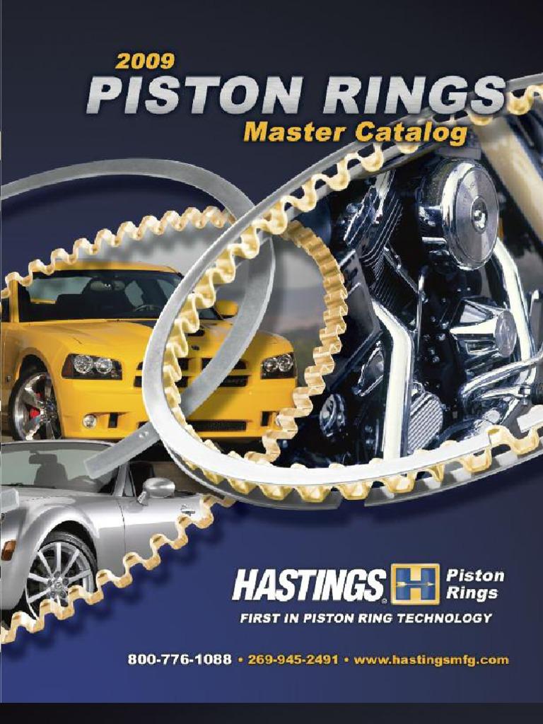 Hastings 2C5461S Single Cylinder Piston Ring Set