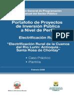 Cisneros Prototipo Electrificacion Rural de La Cuenca Rio Lurin