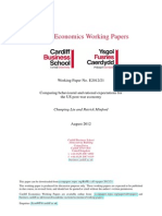 Comparing behavioural and rational expectations for the US post-war economy