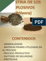 INDUSTRIA DE LOS EXPLOSIVOS (Pólvora)
