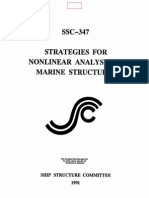 SSC 347 NonLinear Analysis of Marine Structures