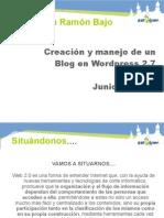 curso de wordpress para profesorado del colegio Ramon Bajo