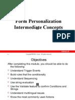 Intermediate Level Form Personalization
