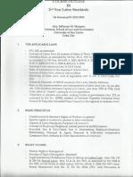 Labor Standards Course Outline