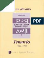 TEMARIO- Juan Rivan- Curso de Logica Moderna y Antigua