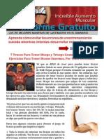 7 Trucos Para Tener Biceps y Triceps Grandes. Tu Guia de Ejercicios Para Tener Brazos Enormes.