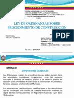 Ley de Procedimientos de Construccion