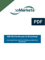 3D Printing Markets